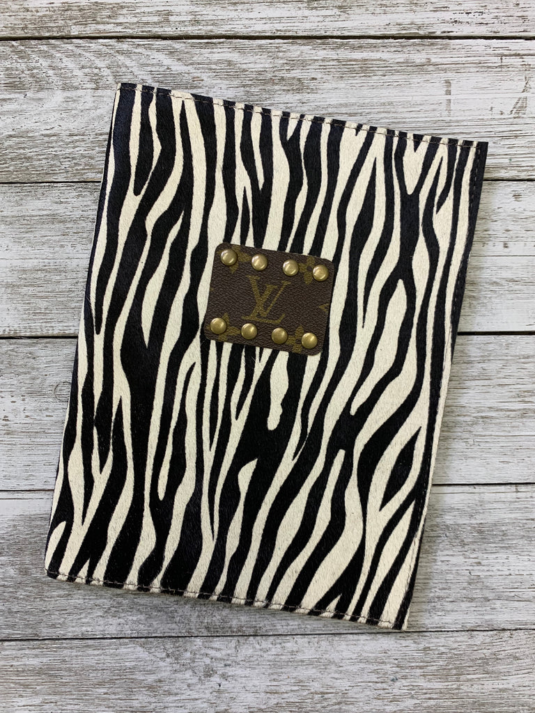 Fly by Night Zebra print hair on hide Journal Holder by Keep it Gypsy