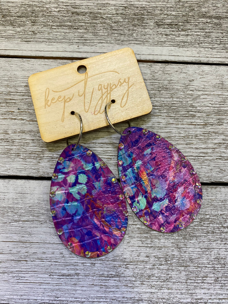 Purple Artist AB Earrings
