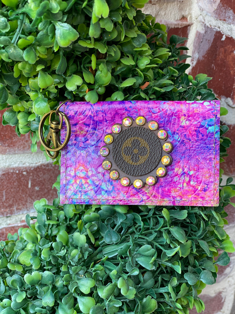 Purple Artist Upcycled CC Holder