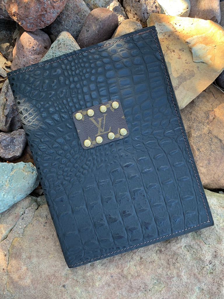 Black Croc Studded Journal Holder by Keep it Gypsy