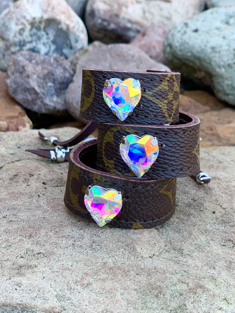 Hearts & Glam mini Heart AB Stone up cycled cinch cuff