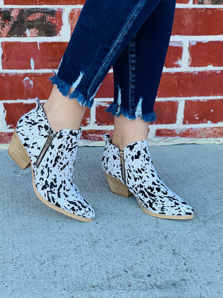 The June cowhide booties by Volatile