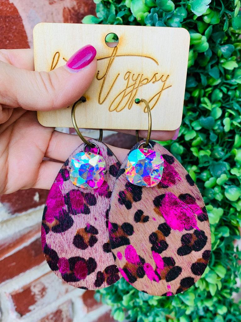 Barbie Leopard AB Teardrop Earring
