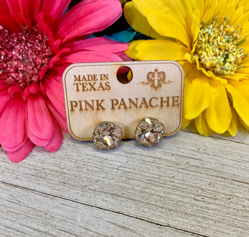 Golden Studs by Pink Panache