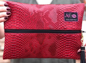 Crimson cobra makeup junkie bags