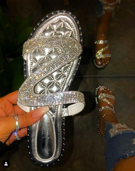 Dallas Bling Silver Sandals