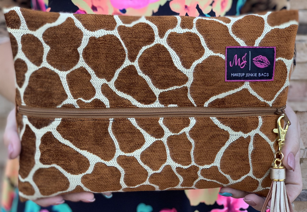 The Giraffe Makeup Junkie Bags