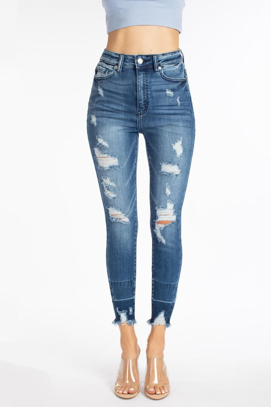 Casual Feels High Rose Distressed Skinnies by KanCan