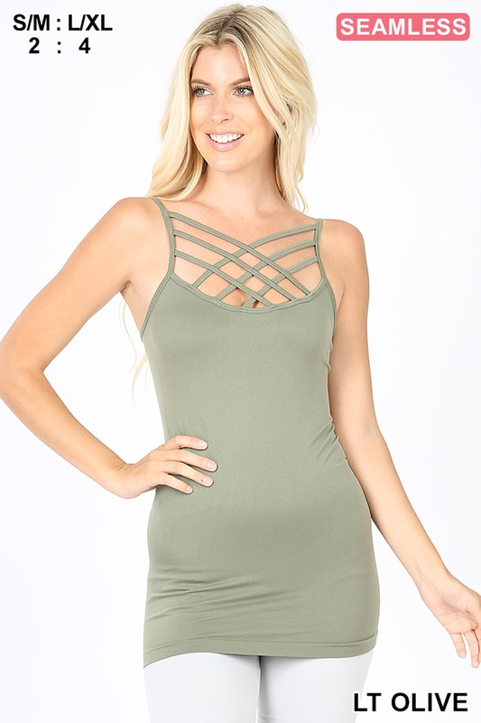 Olive Criss Cross cami