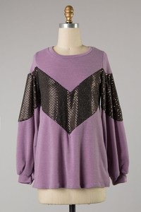 Shimmy & shake Purple sequin sweater