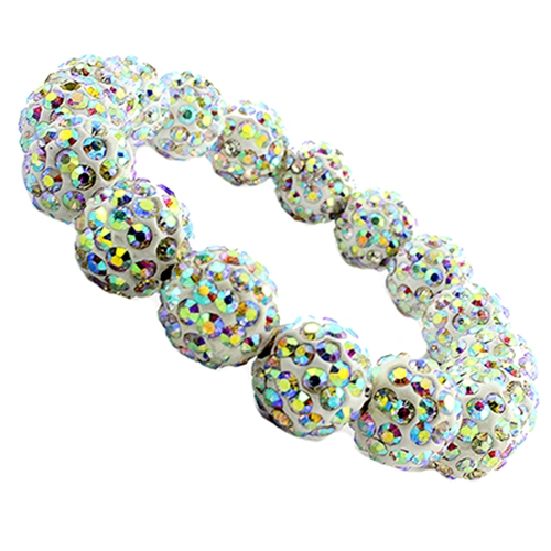 AB Crystal Chunky Beaded Bracelet