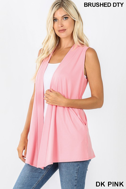 Dark Pink Simply Chic Summer Vest