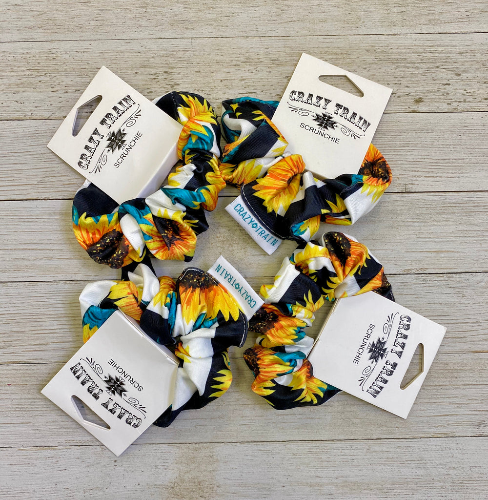 Sunflower Fields Scrunchy