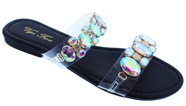 All Summer Long Shimmer Nights Rhinestone Sandal