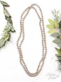 The Essential Iridescent Taupe 60 Inch Necklace