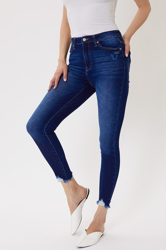 Kristen High Rise Denim Skinnies