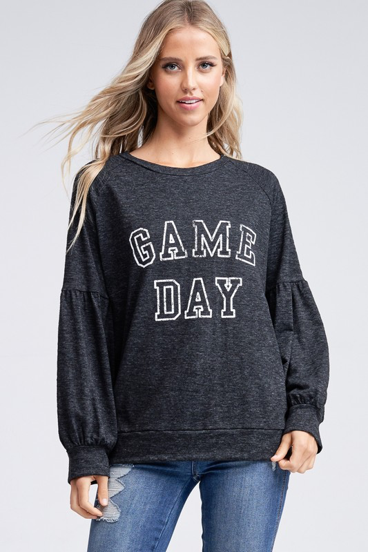 Game Day Bubble Sleeve sweater