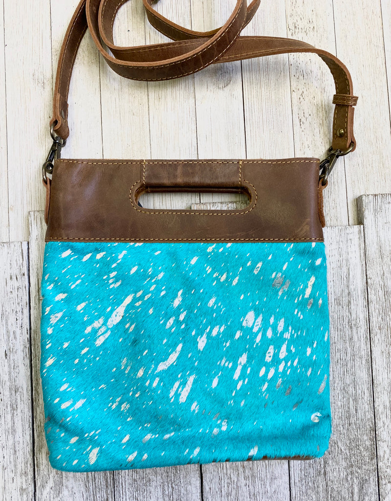 Kasey Turquoise Acid Wash Crossbody