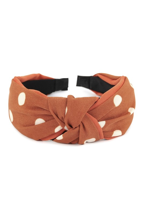 Burnt Orange Polka Dotted Headband