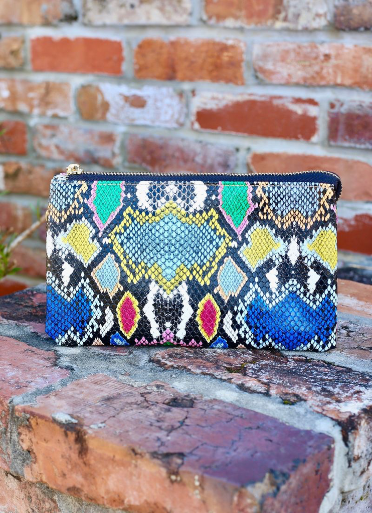 Cover Me in Neon Python Liz Purse