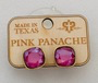 Pink Crystal Stud Earrings by Pink Panache