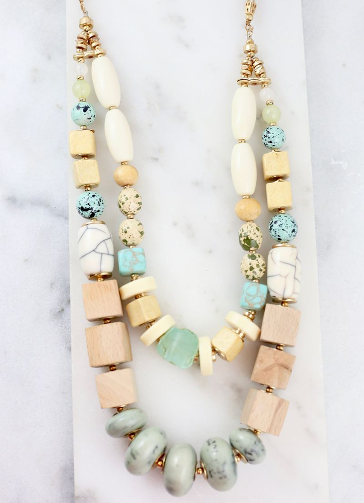 Keeping it Cool Mint Bead Necklace