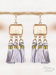 Slate Real Beauty Tassel Earrings