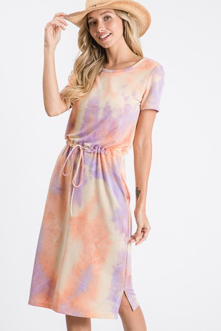 Sunset Evening Tie-Dye Dress