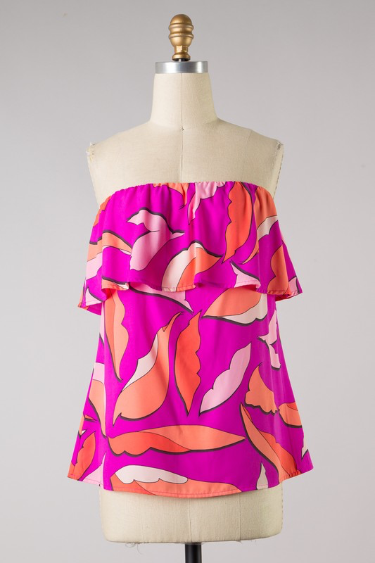 Fuchsia Feeling Sleeveless Blouse