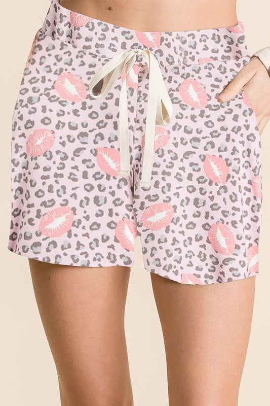 Kiss My Lips Blush Soft Knit Shorts