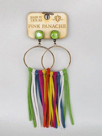 Multi Color Dreaming in Glitz & Fringe earrings by Pink Panache