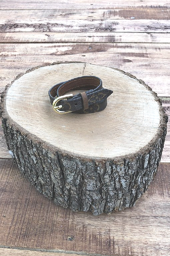 Brown Leather Upcycled Wrap Bracelet