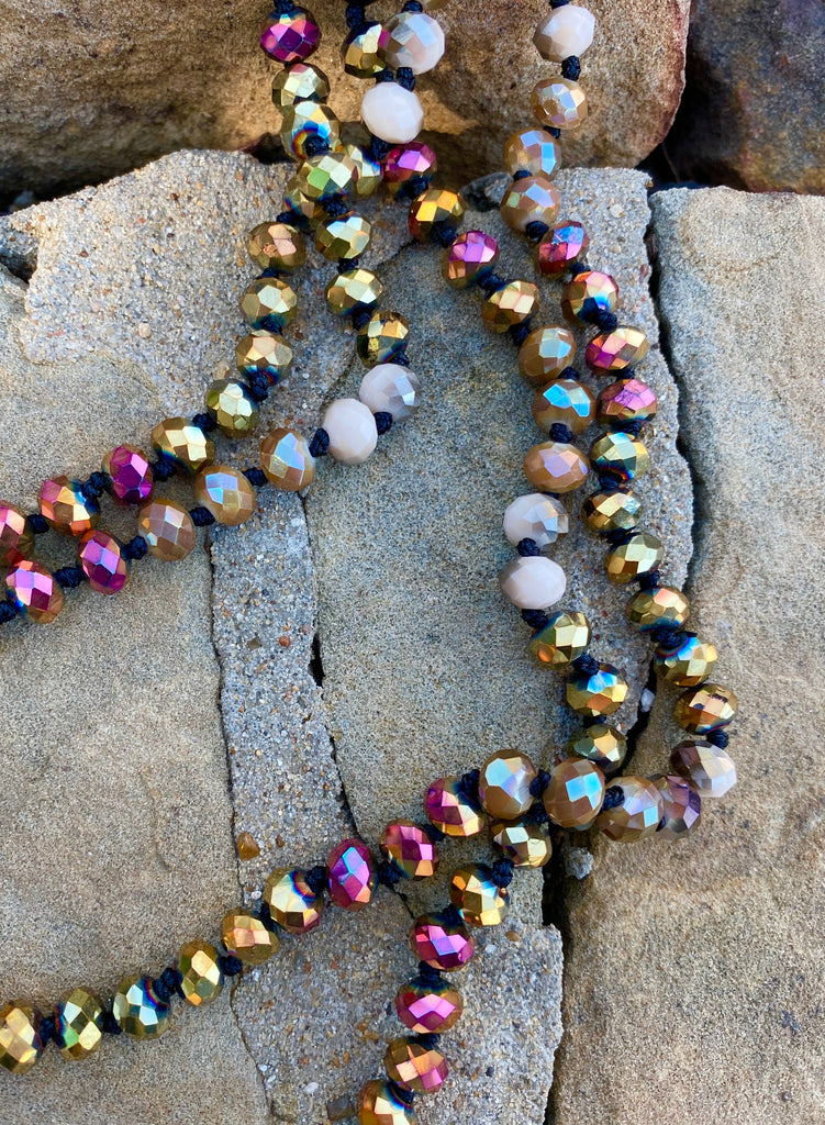 Multi Golden Mermaid Beaded Necklace