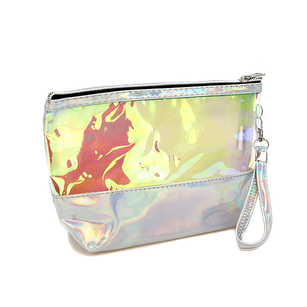 Siver Metallic Makeup Bag