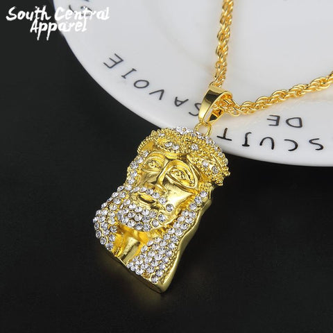 Image of Iced Out Jesus Necklace