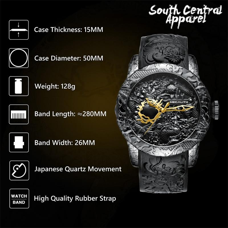The Megalith Watch - Carbon Black