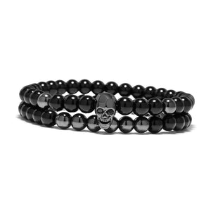 The Outlaw Bracelet Set - Gun Metal Black