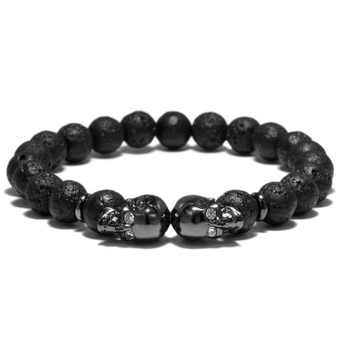 Image of The Twin Outlaw Bracelet - Gun Metal Black