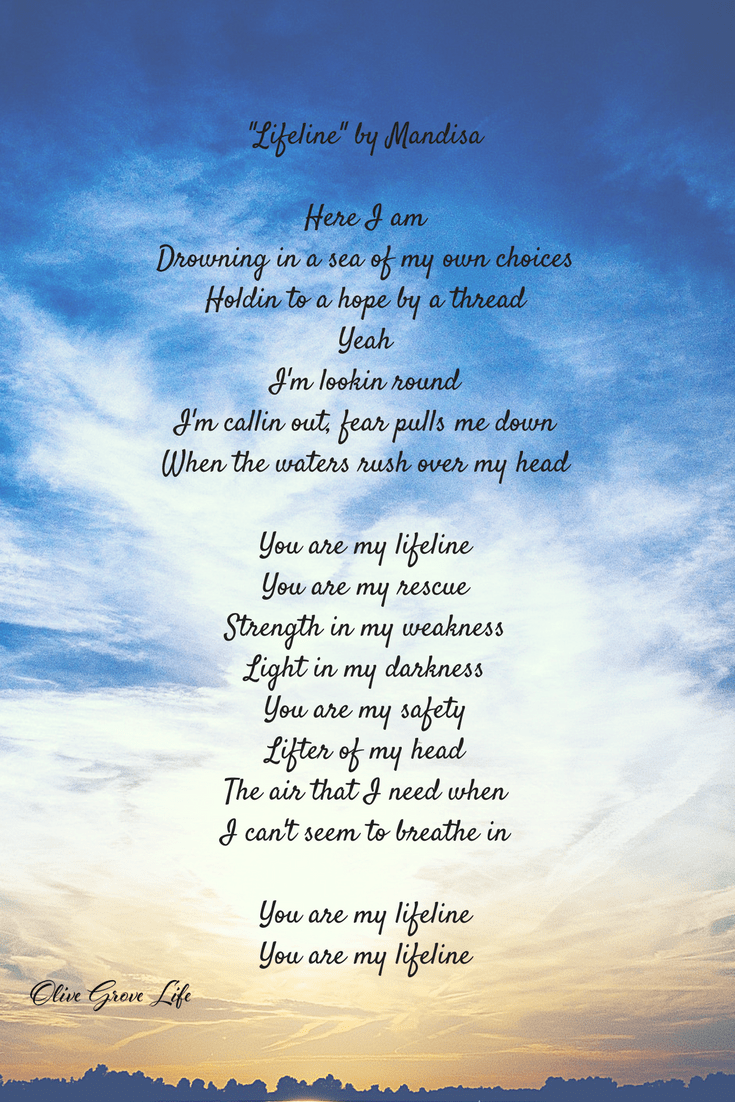 Encouraging Lyrics Tuesday Tunes Lifeline Mandisa