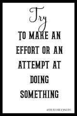 Try to make an effort or attempt at doing something.
