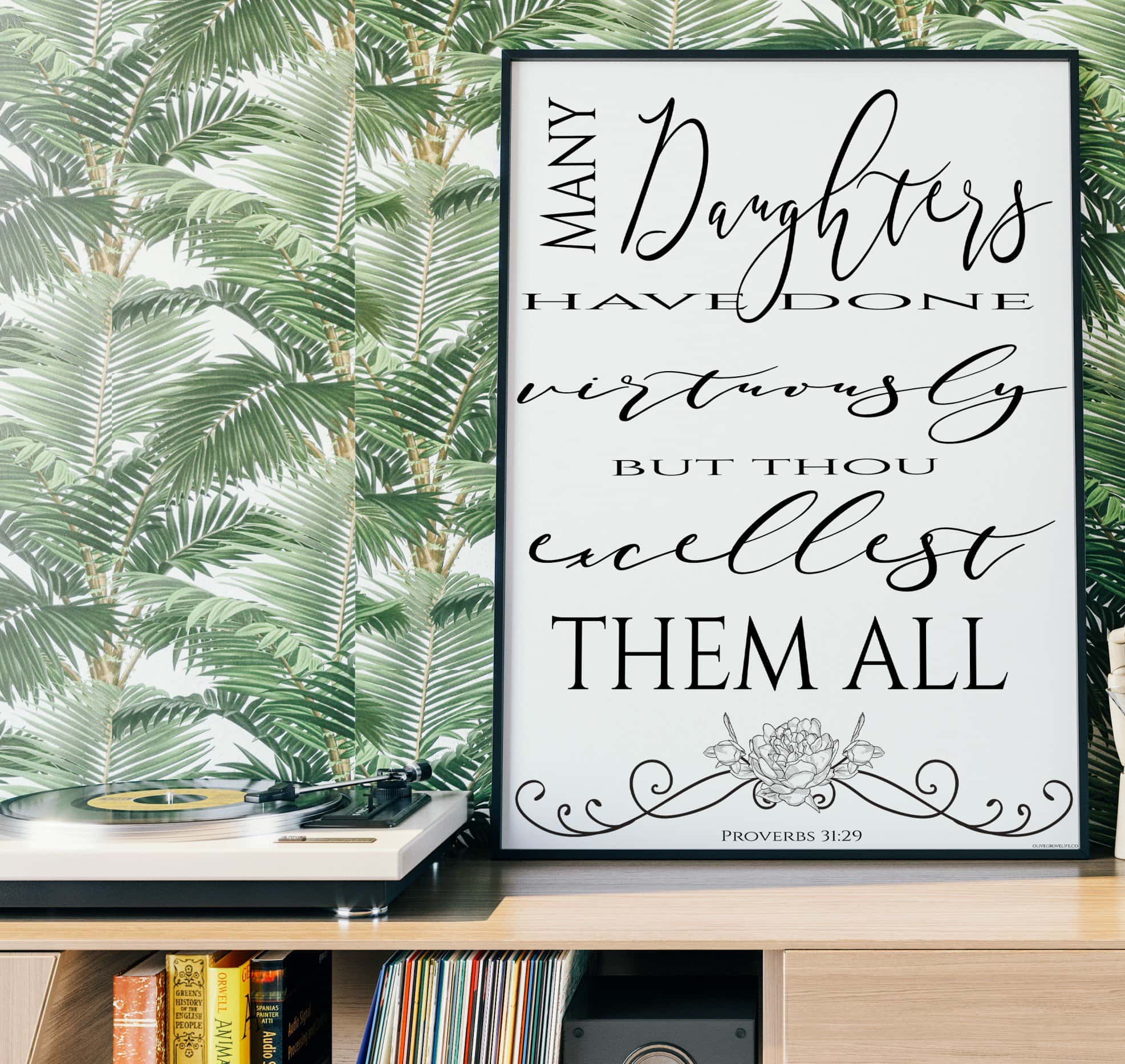 Proverbs 31 And 29 - Art Print 18x24
