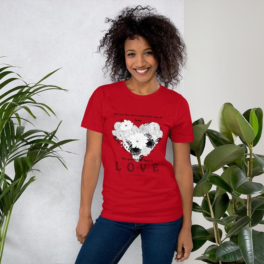 1 Corinthians 13:13 Greatest Love T-shirt Red