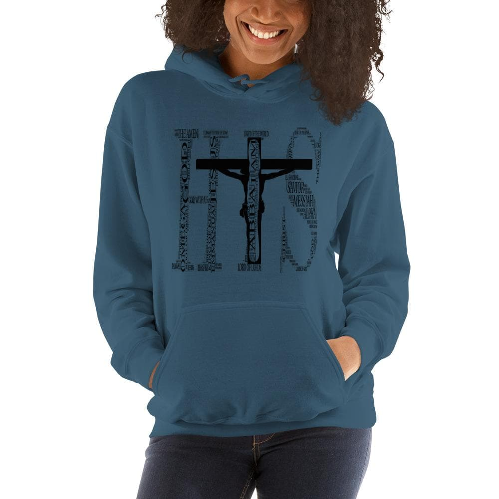 I am His Names of God sweatshirt in Indigo Blue
