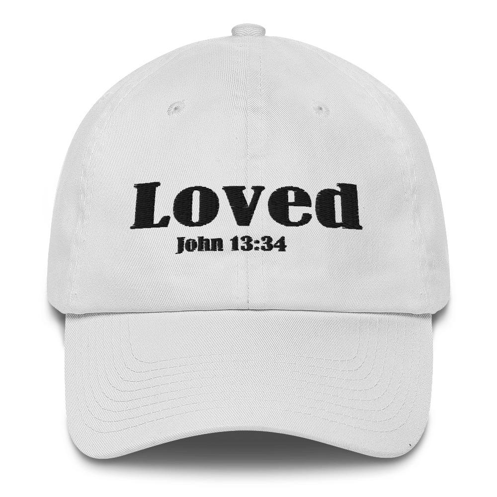 John 13:34 Loved Cotton Cap