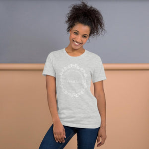 Isaiah 7:9 Stand in your faith Ladies' short sleeve t-shirt