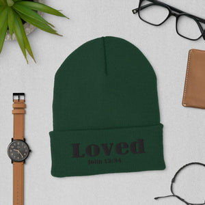 John 13:34 Loved Cuffed Beanie
