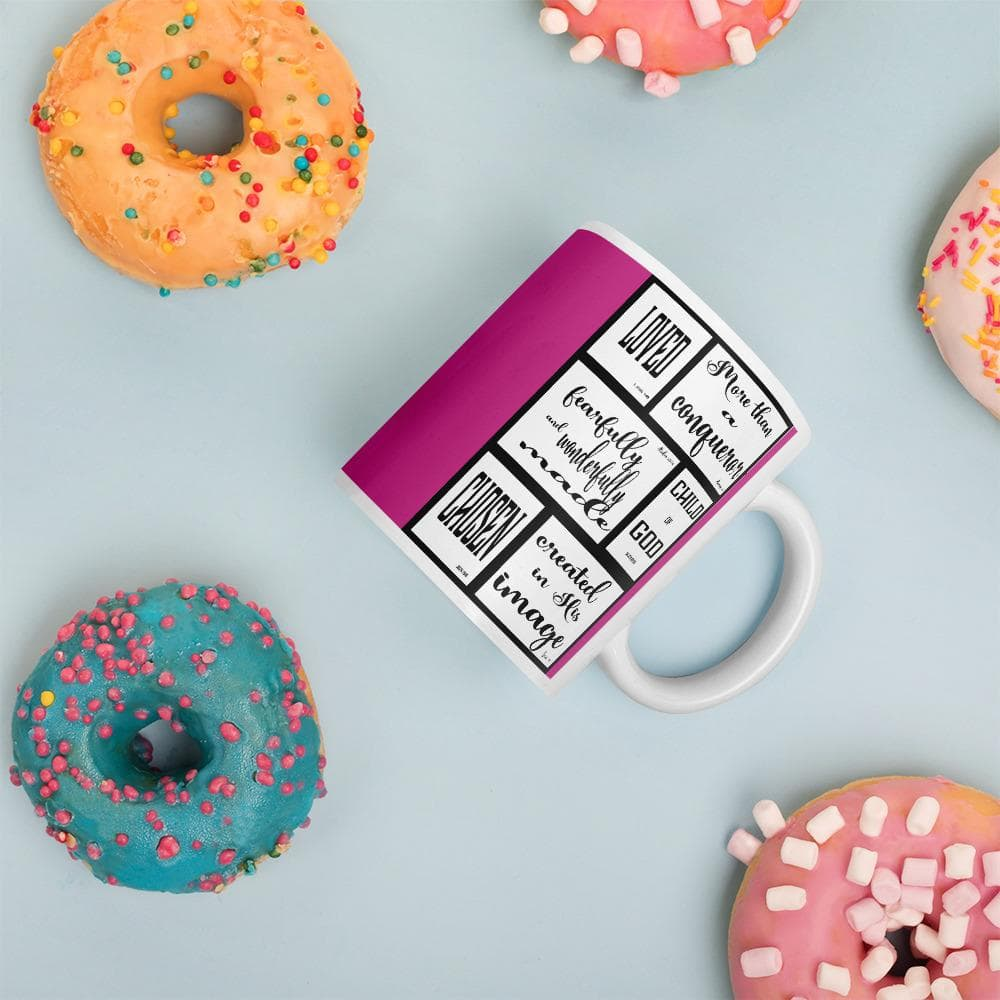 Spiritual Identity Mug with pink backgound