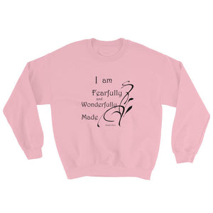 Psalm 139:14 I am fearfully & wonderfully ... ladies sweatshirt
