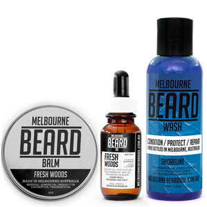 Beard Oil Beard Wash and Beard Balm Pack