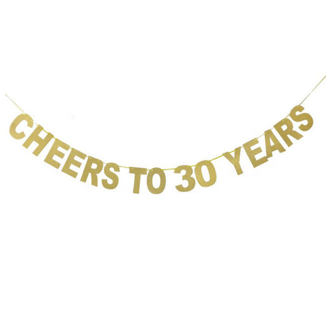 Cheers to 30 Years Banner - Party Supplies in Canada